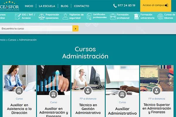 cursos administración ceasfor